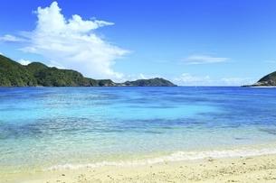 沖縄県 渡嘉敷島の阿波連ビーチの写真素材 [FYI04889716]