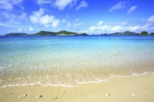沖縄県 座間味島の阿真ビーチの写真素材 [FYI04889735]