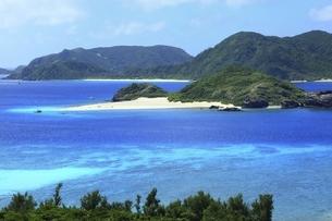 沖縄県 座間味島の青い海の写真素材 [FYI04889742]
