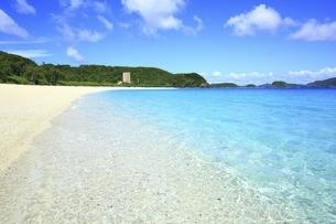 沖縄県 座間味島の古座間味ビーチの写真素材 [FYI04889749]