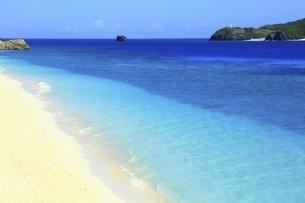 沖縄県 阿嘉島のニシバマビーチの写真素材 [FYI04889760]