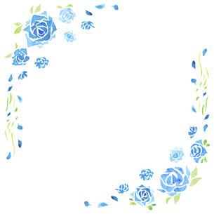 バラの水彩イラストのフレーム素材のイラスト素材 [FYI04889778]