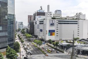名古屋駅前名駅通り街並みを見下ろすの写真素材 [FYI04889834]