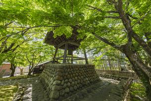 伊豆修善寺の観光名所 修禅寺境内の鐘楼堂の写真素材 [FYI04890562]
