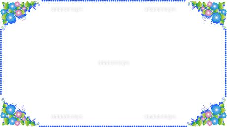 朝顔の夏の爽やかなドットのフレームのイラスト素材 [FYI04891365]