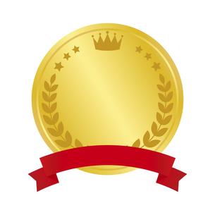 メダル型のランキングアイコンのイラスト素材 [FYI04891436]