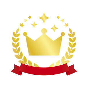 王冠のランキングアイコンのイラスト素材 [FYI04891440]
