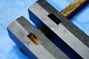 柱の塗装の写真素材 [FYI04891729]