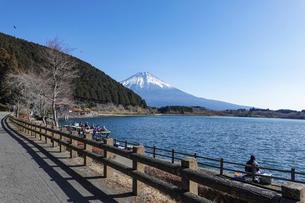 田貫湖から見渡す冬の富士山の写真素材 [FYI04891827]