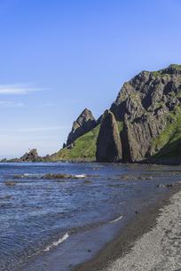 礼文島の奇岩・地蔵岩の写真素材 [FYI04893967]