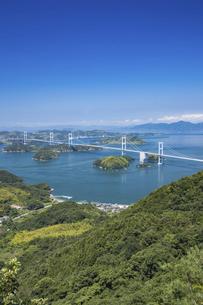 大島亀老山から見た来島海峡(しまなみ海道)の写真素材 [FYI04894177]