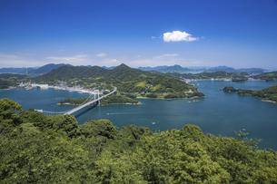 カレイ山展望台と伯方・大島大橋(しまなみ海道)の写真素材 [FYI04894180]