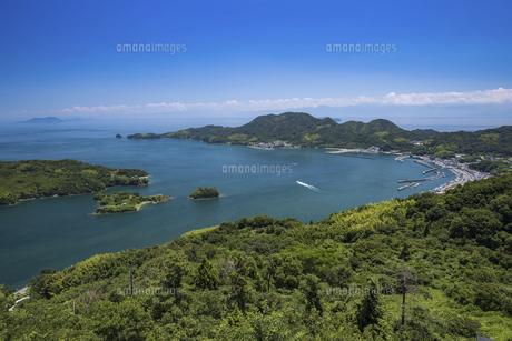 カレイ山展望台から見た宮窪瀬戸(瀬戸内海)の写真素材 [FYI04894182]