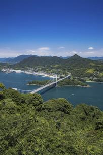 カレイ山展望台と伯方・大島大橋(しまなみ海道)の写真素材 [FYI04894183]
