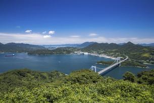 カレイ山展望台と伯方・大島大橋(しまなみ海道)の写真素材 [FYI04894186]