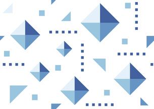 幾何学模様の背景 青のイラスト素材 [FYI04894297]