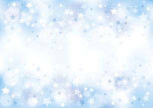 小さな星のキラキラ背景 青のイラスト素材 [FYI04894546]