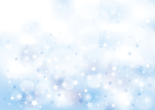 小さな星のキラキラ背景 青のイラスト素材 [FYI04894547]