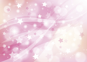 星とウェーブ キラキラと光る抽象的な背景 ピンクのイラスト素材 [FYI04894563]