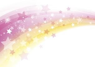 流れる星の背景 ピンクのイラスト素材 [FYI04894566]