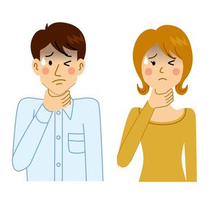 喉を痛める男女のイラスト素材 [FYI04894623]