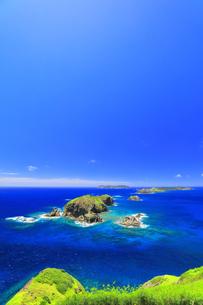 小笠原国立公園 母島の小富士より姉島などの島々を望むの写真素材 [FYI04894628]