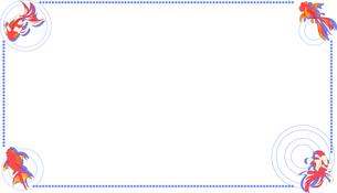 金魚のフレームのイラスト素材 [FYI04894639]