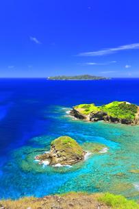 小笠原国立公園 母島の小富士より向島を望むの写真素材 [FYI04894643]