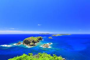 小笠原国立公園 母島の小富士より姉島方向を望むの写真素材 [FYI04895451]