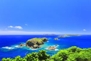 小笠原国立公園 母島の小富士より姉島方向を望むの写真素材 [FYI04895453]