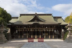 小倉城八坂神社の拝殿の写真素材 [FYI04895827]