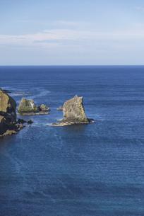 海の上の「猫」~礼文島・猫岩~の写真素材 [FYI04896125]
