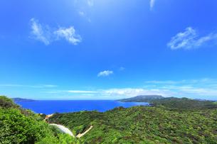 小笠原国立公園 母島の小富士より北方向を望むの写真素材 [FYI04896197]