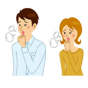 咳をする男女のイラスト素材 [FYI04897670]