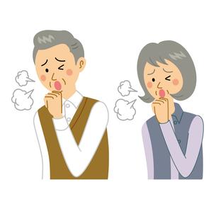 咳をする老夫婦のイラスト素材 [FYI04897689]