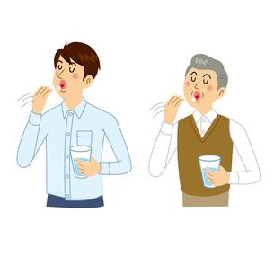 薬を飲む男性のイラスト素材 [FYI04897752]