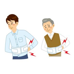 腰を痛める男性のイラスト素材 [FYI04897753]