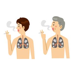喫煙する男性のイラスト素材 [FYI04897758]