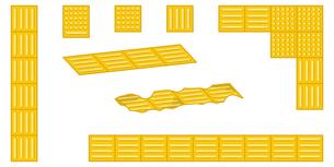 点字ブロックのセットのイラスト素材 [FYI04897836]