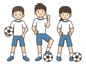 サッカーをする子供たちのイラスト素材 [FYI04898017]