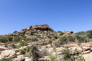 ソマリランド・ラースゲールの荒涼とした岩山の写真素材 [FYI04898083]