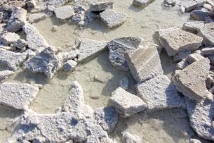 天然の岩塩ブロック(エチオピア・ダナキル砂漠のカルム塩湖)の写真素材 [FYI04898085]