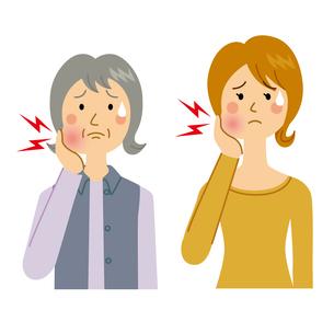 虫歯に悩む女性のイラスト素材 [FYI04898486]