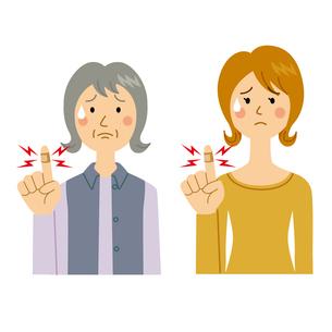 指をケガする女性のイラスト素材 [FYI04898487]