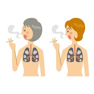 喫煙する女性のイラスト素材 [FYI04898496]
