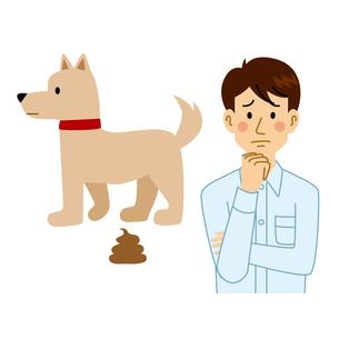 犬の糞に困る男性のイラスト素材 [FYI04898514]