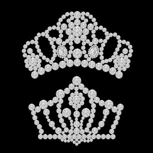 ダイヤモンドのティアラのイラストのイラスト素材 [FYI04899049]