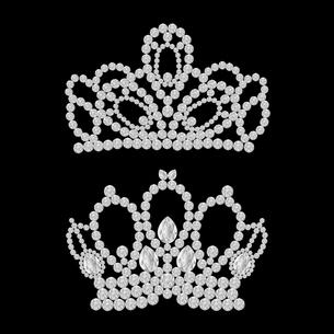 ダイヤモンドのティアラのイラストのイラスト素材 [FYI04899177]
