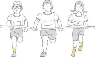 かけっこをする3人のイラスト素材 [FYI04899364]