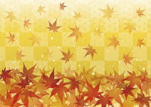 紅葉 落ち葉 秋の和風背景のイラスト素材 [FYI04899415]